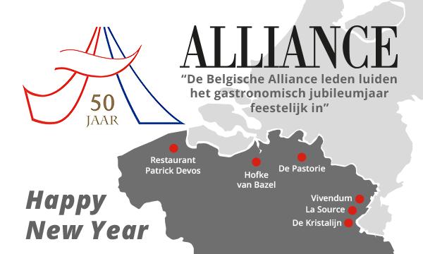 De Belgische Alliance leden luiden het gastronimische jubileumjaar feestelijk in!